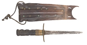 Early English Naval Dirk with Sheath