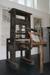 Printing press from 1811. ~ Photographed in Deutsches Museum Munich, Germany
