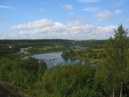 Panorama of River Neiden in Finnmark, Norway ~ Photo byOdd-Arild Knutsen