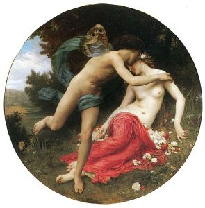 Flora and Zephyr ~ William-Adolphe Bouguereau (1875) on display at Musée des Beaux Arts de Mulhouse