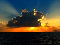 Photo of a cloud illuminated by sunlight. ~ by Ibrahim Iujaz from Rep. Of Maldives