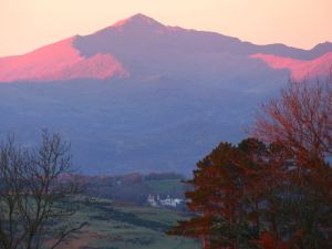 Snowdon at sunset