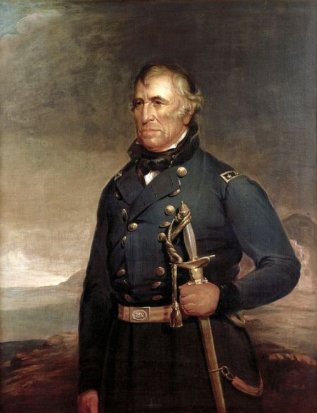 Official White House portrait of Zachary Taylor by Joseph Henry Bush, c1848