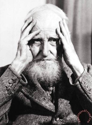 George Bernard Shaw Painting; George Bernard Shaw Art Print for sale
